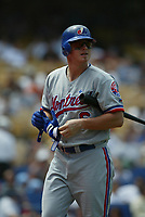 Brad Wilkerson of the Montreal Expos during a 2003 season MLB game at Dodger Stadium in Los Angeles, California. (Larry Goren/Four Seam Images)