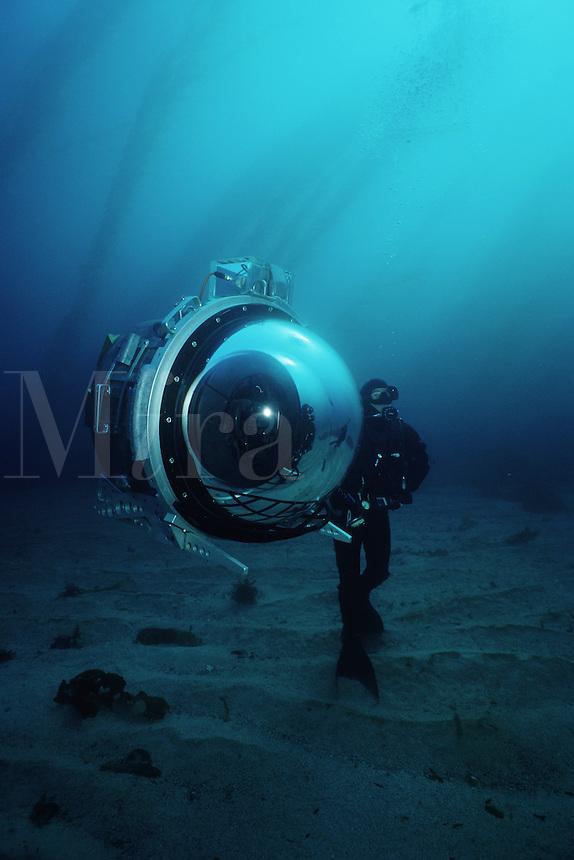 Cameramen use the latest in high-technology to film marine wildlife, California