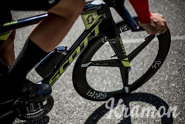 Svein Tuft (CAN/Mitchelton Scott) pre race. <br /> <br /> Binckbank Tour 2018 (UCI World Tour)<br /> Stage 2: ITT Venray (NL) 12.7km