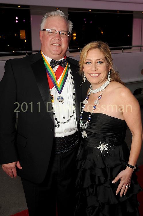 "Martha and Scott Livanec at the San Luis Salute ""Space Pirates"" VIP reception Friday February 24,2017. (Dave Rossman Photo)"