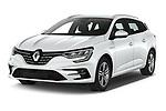 2020 Renault Megane-Grandtour Intens 5 Door Wagon Angular Front automotive stock photos of front three quarter view