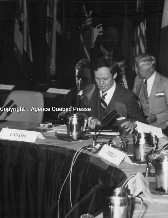 Jean Chretien, Date inconnue, vers 1980<br /> <br /> <br /> PHOTO : Agence Quebec Prese