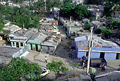 DOMINICAN REPUBLIC<br /> The crowded riverside barrio of La Cienega, Santo Domingo, where houses have no running water or sanitation