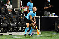 ATLANTA, GA - AUGUST 22: Corey Rockwell assistant referee follows play during a game between Nashville SC and Atlanta United FC at Mercedes-Benz Stadium on August 22, 2020 in Atlanta, Georgia.