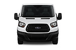 Car photography straight front view of a 2019 Ford Transit Van 250 LR 4 Door Cargo Van