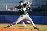 Michigan State Spartans Tony Bucciferro #41 during a game vs the Akron Zips at Chain of Lakes Park in Winter Haven, Florida;  March 12, 2011.  Michigan State defeated Akron 5-1.  Photo By Mike Janes/Four Seam Images