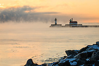 """Sea Smoke at Sunrise""<br />