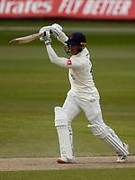 15th April 2021; Emirates Old Trafford, Manchester, Lancashire, England; English County Cricket, Lancashire versus Northants; Luke Wood of Lancashire at bat