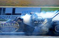 Sept. 25, 2011; Ennis, TX, USA: NHRA top fuel dragster driver Del Worsham during the Fall Nationals at the Texas Motorplex. Mandatory Credit: Mark J. Rebilas-