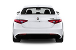 Straight rear view of 2020 Alfaromeo Giulia Sprint 4 Door Sedan Rear View  stock images