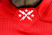 Washington, DC - Sunday JAN 26, 2020: Close up photo of the DC Defenders uniform at DC Defenders open house at  Audi Field in Washington, DC. (Photo by Phil Peters/Media Images International)