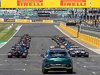 18th July 2021; Silverstone Circuit, Silverstone, Northamptonshire, England; Formula One British Grand Prix, Race Day; The second start of the race after the Verstappen crash and red flag on lap 1