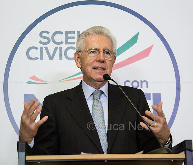 """Mario Monti - Italian General Election 2013.<br /> <br /> For more pictures on this event click here: <a href= """" http://bit.ly/12fQn4e""""> http://bit.ly/12fQn4e</a>"""
