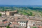 Europe; Italy; Tuscany; San Gimignano, San Agostino Church & Countyside