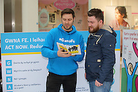 Pictured L-R: Ian Robson with Adam Griffiths Saturday 18 Saturday<br />