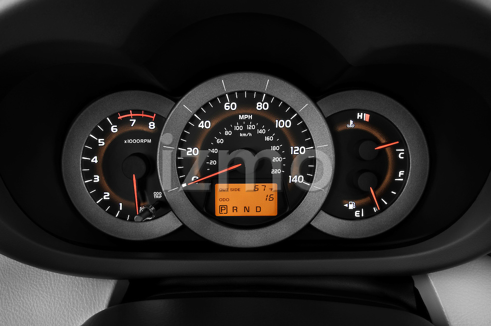 Instrument panel close up detail view of a 2008 Toyota Rav4 Limited Stock Photo
