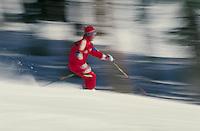 Scottie Ewing (MR435) Alpine Skiing, Blurred Motion. Scottie Ewing (MR435). Summit County, Colorado.
