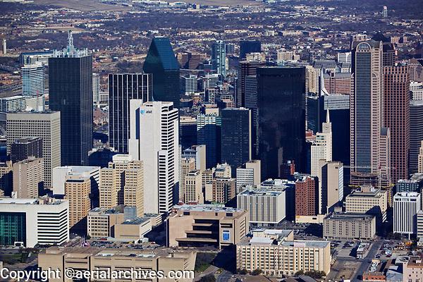 aerial photograph of the Dallas, Texas skyline