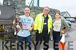 Andrew Doyle (Tralee) with Chelsea the dog, Shauna Ross (Ballyduff) and Joe Barrett (Ballyheigue) at the Irish Ford Fair in Banna on Sunday.