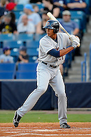 Lakeland Flying Tigers outfielder Steven Moya #21 during a game against the Tampa Yankees at Steinbrenner Field on April 6, 2013 in Tampa, Florida.  Lakeland defeated Tampa 8-3.  (Mike Janes/Four Seam Images)