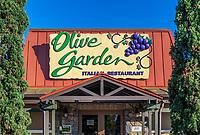 Olive Garden restaurant exterior, Kissimmee, Florida, USA.