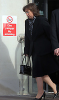 Pictured: Nadine May leaves Swansea Crown Court.<br /> Re: Piano teacher Nadine May for who defrauded her piano students of fake examination fees, on trial at Swansea Crown Court, Wales, UK.