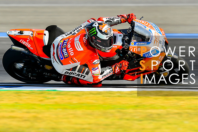 Ducati Team's rider Jorge Lorenzo of Spain rides during the MotoGP Official Test at Chang International Circuit on 16 February 2018, in Buriram, Thailand. Photo by Kaikungwon Duanjumroon / Power Sport Images