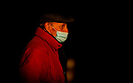 October 31, 2020: Trainer, Barclay Tagg, after Tiz the Law exercises in preparation for the Breeders' Cup Classic at Keeneland Racetrack in Lexington, Kentucky on October 31, 2020. Alex Evers/Eclipse Sportswire/Breeders Cup