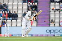 Ravindra Jadeja, India pushes into the on side during India vs New Zealand, ICC World Test Championship Final Cricket at The Hampshire Bowl on 20th June 2021
