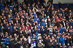Dundee v St Johnstone....08.11.14   SPFL<br /> Saints fans applaud<br /> Picture by Graeme Hart.<br /> Copyright Perthshire Picture Agency<br /> Tel: 01738 623350  Mobile: 07990 594431