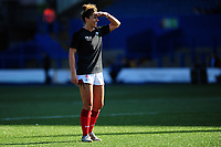 Pictured: Jess Kavanagh of Wales during the pre match warm up for the Women's six nations championship match between Wales and England at Cardiff Arms Park, Cardiff, Wales, UK. Sunday 24 February 2019