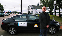 2017 09 05 Surgeon Peter O'Keefe is now working as un Uber taxi driver in Cardiff, Wales, UK