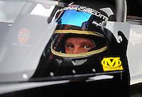 Aug. 19, 2011; Brainerd, MN, USA: NHRA top fuel dragster driver Rod Fuller during qualifying for the Lucas Oil Nationals at Brainerd International Raceway. Mandatory Credit: Mark J. Rebilas-