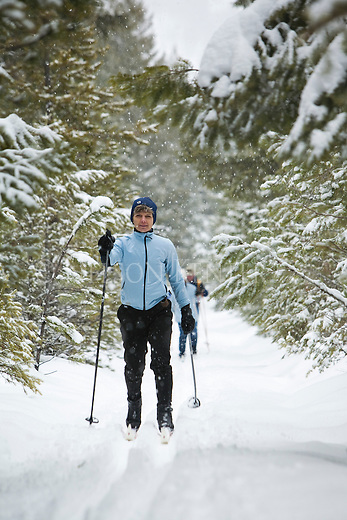 Cross Country skiing in the Rattlesnake recreation Area