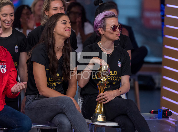 New York, NY - July 9, 2019:  The USWNT appeared on Good Morning America and The Today Show after winning the FIFA Women's World Cup.
