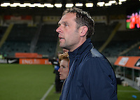 20160302 – DEN HAAG ,  NEDERLAND : Dutch coach Arjan Van Der Laan pictured during the Olympic Qualification Tournament  soccer game between the women teams of Switzerland and The Netherlands, The first game for both teams in the Olympic Qualification Tournament for the Olympic games in Rio de Janeiro - Brasil, Wednesday 2 March 2016 at Kyocera Stadium in The Hague , Netherlands  PHOTO DAVID CATRY