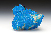Synthetically produced crystals of copper sulfate, also known as cupric sulfate.