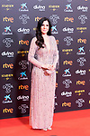 Singer Diana Navarro attends the red carpet previous to Goya Awards 2021 Gala in Malaga . March 06, 2021. (Alterphotos/Francis González)