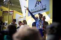 podium with stage winner Thibaut Pinot (FRA/Groupama FDJ)<br /> <br /> Stage 14: Tarbes to Tourmalet (117km)<br /> 106th Tour de France 2019 (2.UWT)<br /> <br /> ©kramon