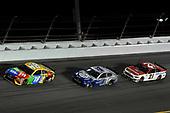 #18: Kyle Busch, Joe Gibbs Racing, Toyota Camry M&M's, #4: Kevin Harvick, Stewart-Haas Racing, Ford Mustang Busch Light #PIT4BUSCH, #21: Matt DiBenedetto, Wood Brothers Racing, Ford Mustang Motorcraft/Quick Lane