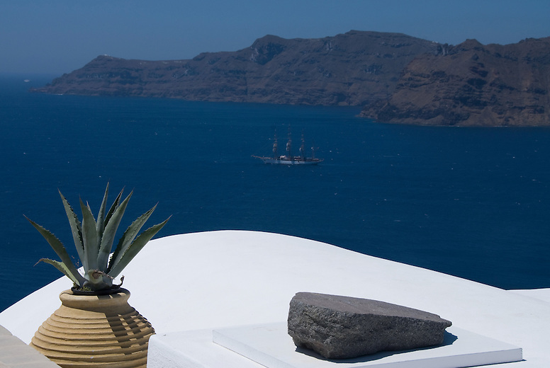 The volcano is what made Santorini what it is today. It continues to dominate the caldera and attracts the attention of all visitors.  The  caldera was created from a massive eruption around 1650 BC, one of the largest in the history of mankind, followed by the land's collapse. It was the same eruption that destroyed the Minoan civilization in Crete. The volcano is not currently active.