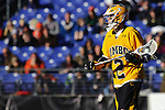 Face-Off Classic: Attackman Dave Brown #2 of the UMBC Retrievers  during the UMBC v Johns Hopkins mens lacrosse game at M&T Bank Stadium on March 10, 2012 in Baltimore, Maryland. (Ryan Lasek/ Eclipse Sportswire)