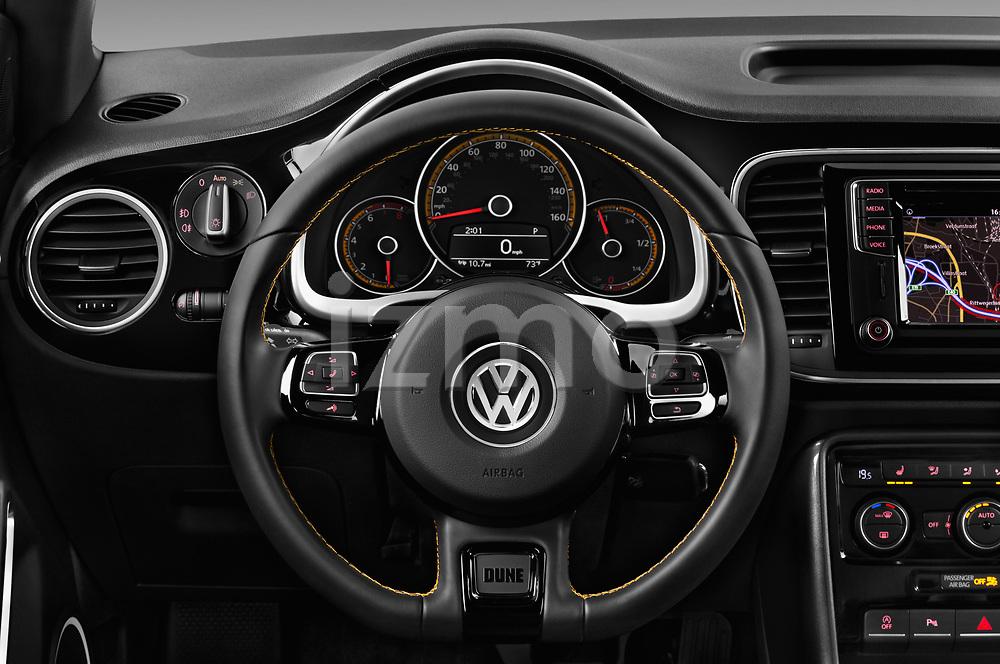 Car pictures of steering wheel view of a 2017 Volkswagen Beetle Dune 3 Door Hatchback