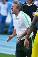 BARRANQUILLA -COLOMBIA ,30-07-2017. Juan Manuel Lillo director técnico de Atlético Nacional. Acción de juego entre los equipos Atlético Junior y Atléco Nacional  durante encuentro  por la fecha 5 de la Liga Aguila II 2017 disputado en el estadio Metropolitano Roberto Meléndez de Barranquilla/ Juan Manuel Lilllo coach of Atletico Nacional Action game between Atletico Junior and Atletico Nacional during match for the date 5 of the Aguila League II 2017 played at Metropolitano Roberto Melendez in Barranquilla . Photo:VizzorImage / Alfonso Cervantes  / Cont