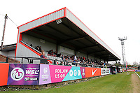The main stand during Arsenal Ladies vs Notts County Ladies, SSE Women's FA Cup Football at Meadow Park on 3rd April 2016