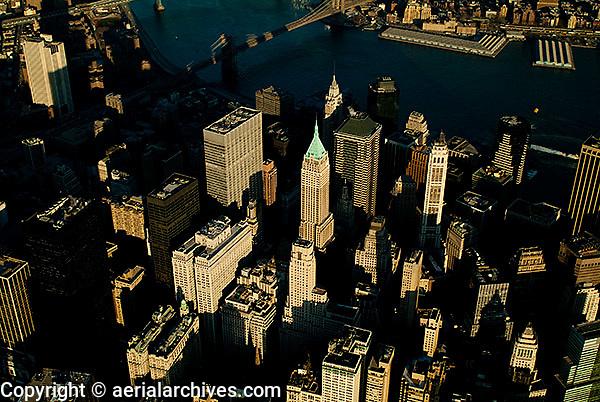 aerial photograph downtown Manhattan, New York City