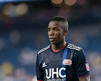 FOXBOROUGH, MA - JULY 18: Luis Caicedo #27 during a game between Vancouver Whitecaps and New England Revolution at Gillette Stadium on July 18, 2019 in Foxborough, Massachusetts.