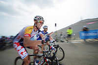 Greg Henderson (NZL) is happy he's almost up.<br /> <br /> Tour de France 2013<br /> stage 15: Givors to Mont Ventoux, 242,5km