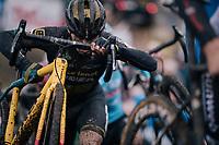 Jim Aernouts (BEL/Telenet-Fidea Lions)<br /> <br /> men's race<br /> Soudal Jaarmarktcross Niel 2018 (BEL)