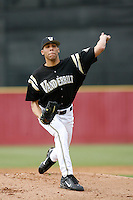 February 17 2006: David Price of Vanderbilt University in action at Dedeaux Field in Los Angeles,CA.  Photo by Larry Goren/Four Seam Images